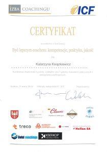katarzyna ksiazkiewicz coach certyfikat byc lepszym coachem kompetencje praktyka jakosc1