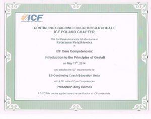katarzyna ksiazkiewicz coach certyfikat introduction to the principles of gestalt1