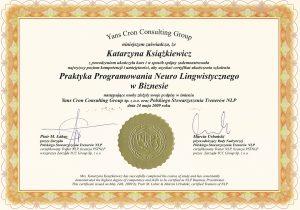 katarzyna ksiazkiewicz coach certyfikat praktyk nlp w biznesie1