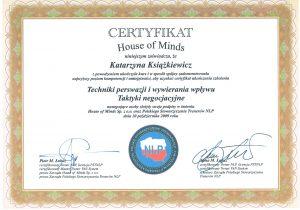 katarzyna ksiazkiewicz coach certyfikat techniki persfazji i wywierania wplywu taktyki negocjacyjne1