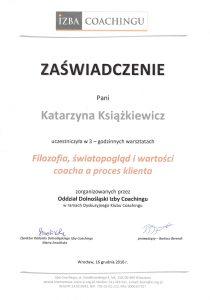 katarzyna ksiazkiewicz coach zaswiadczenie ukonczenia warsztatow filozofia swiatopoglad wartosci coacha proces klienta1
