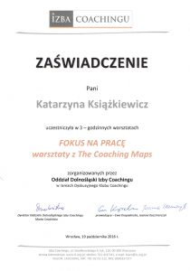 katarzyna ksiazkiewicz coach zaswiadczenie ukonczenia warsztatow fokus na prace1