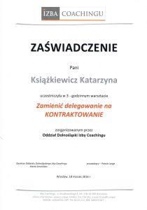 katarzyna ksiazkiewicz coach zaswiadczenie ukonczenia warsztatow zamienic delegowanie na kontraktowanie1