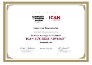 certyfikat_program rozwoju menedzerow_ican business advisor_przywodztwo pdf