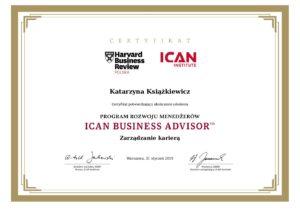 certyfikat_program rozwoju menedzerow_ican business advisor_zarzadzanie kariera pdf