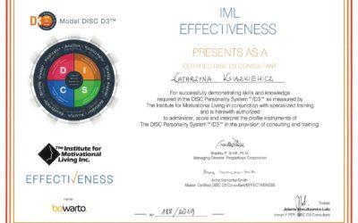 Certyfikowany Konsultant DISC D3